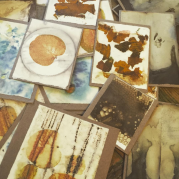 naturally dyed cards