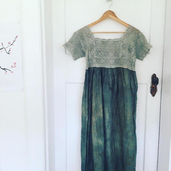 naturally dyed silk dress